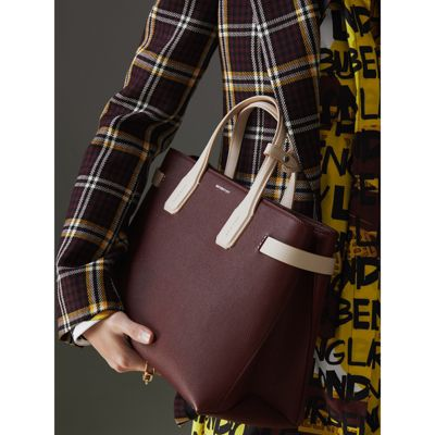 Burberry - Sac The Banner moyen en cuir bicolore - 4