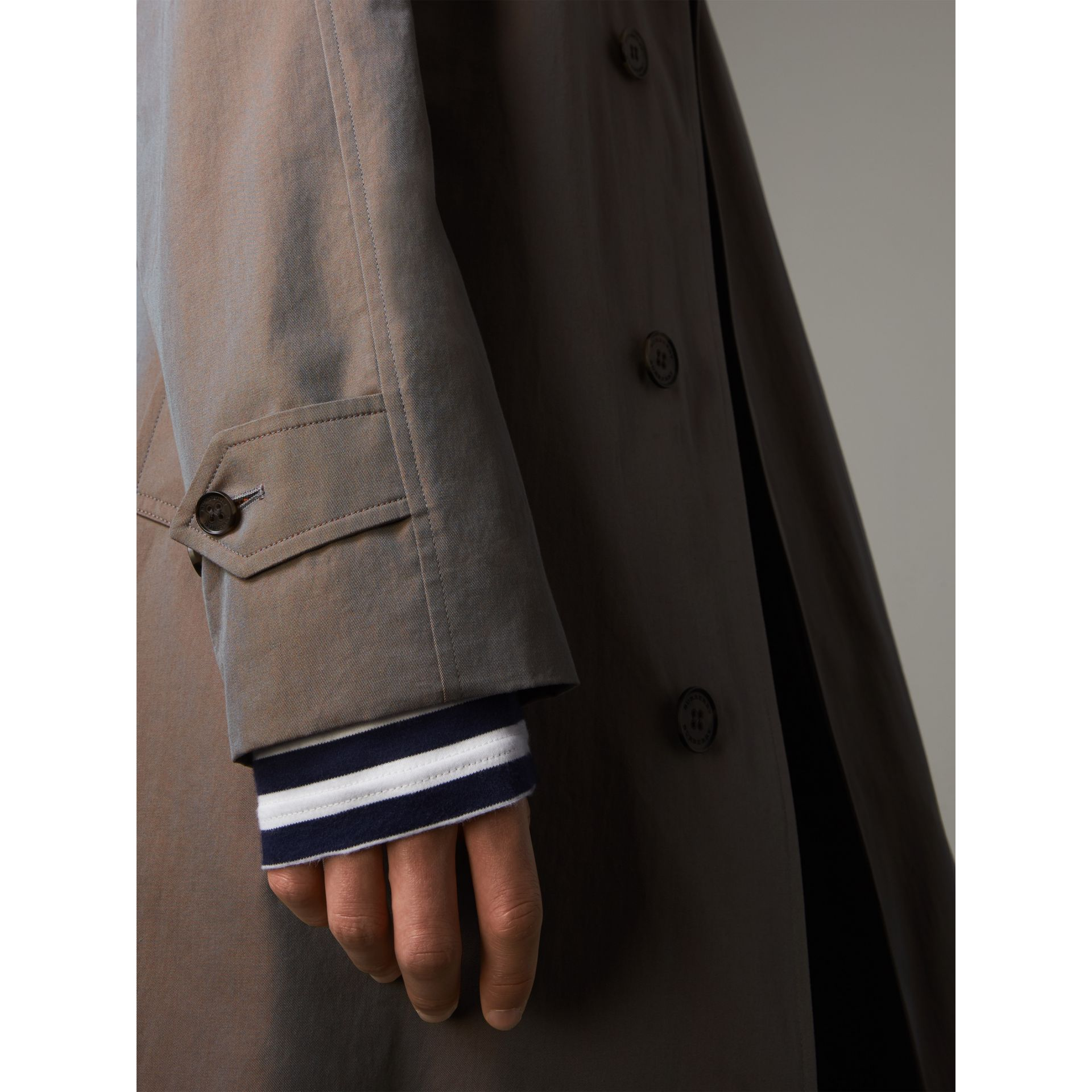 The Brighton – Longline Car Coat in Lilac Grey - Men | Burberry - gallery image 5