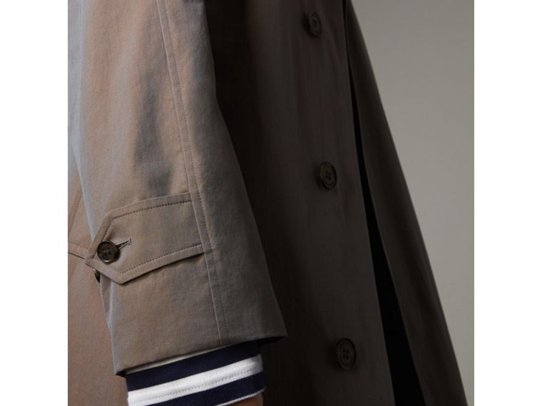 The Brighton Car Coat in Lilac Grey - Men | Burberry - cell image 4