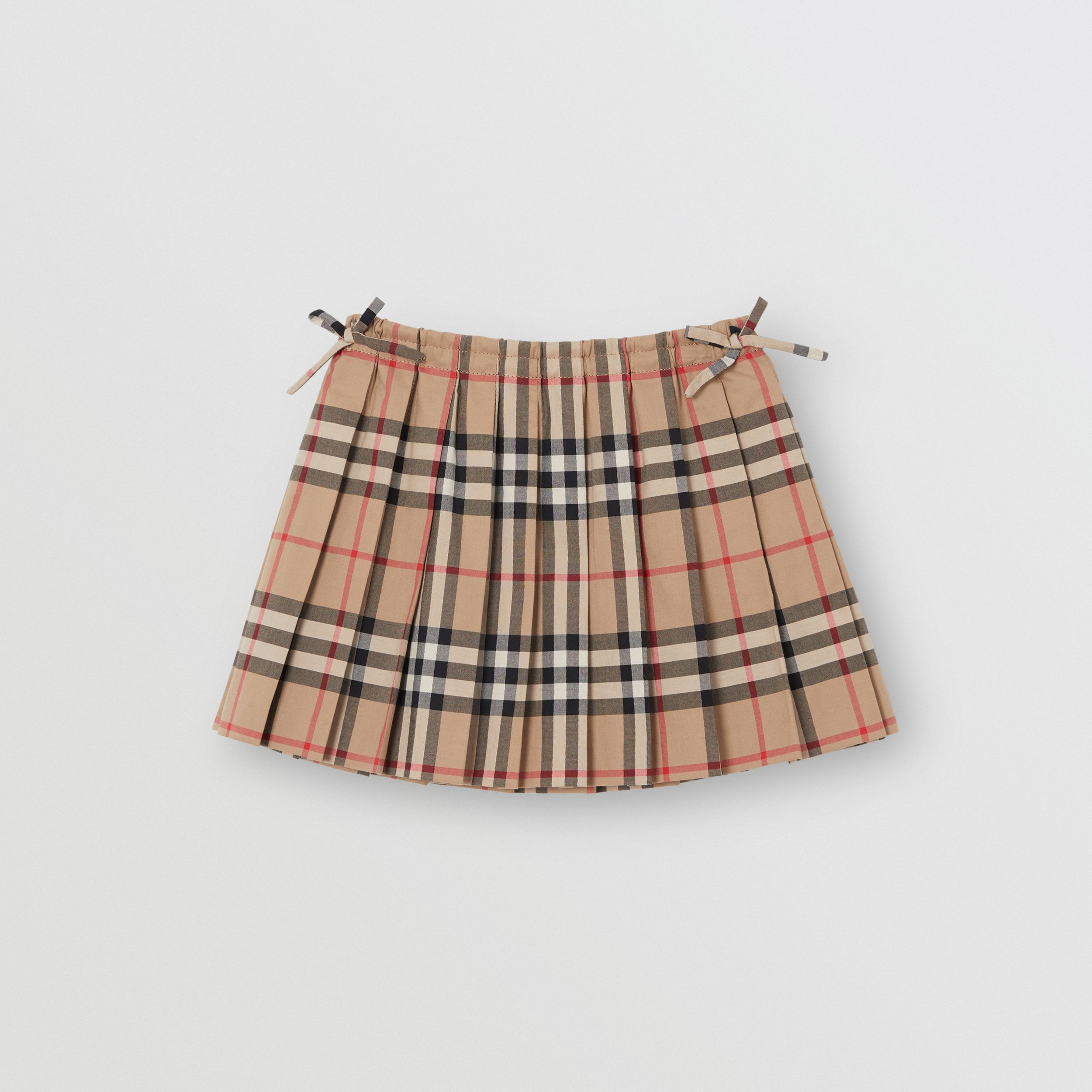 Vintage Check Pleated Skirt in Archive Beige - Children | Burberry - 1