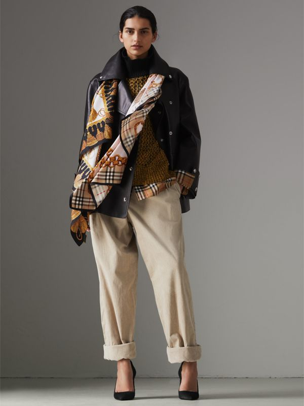 Archive Scarf Print Silk Scarf in Gold | Burberry Australia - cell image 2
