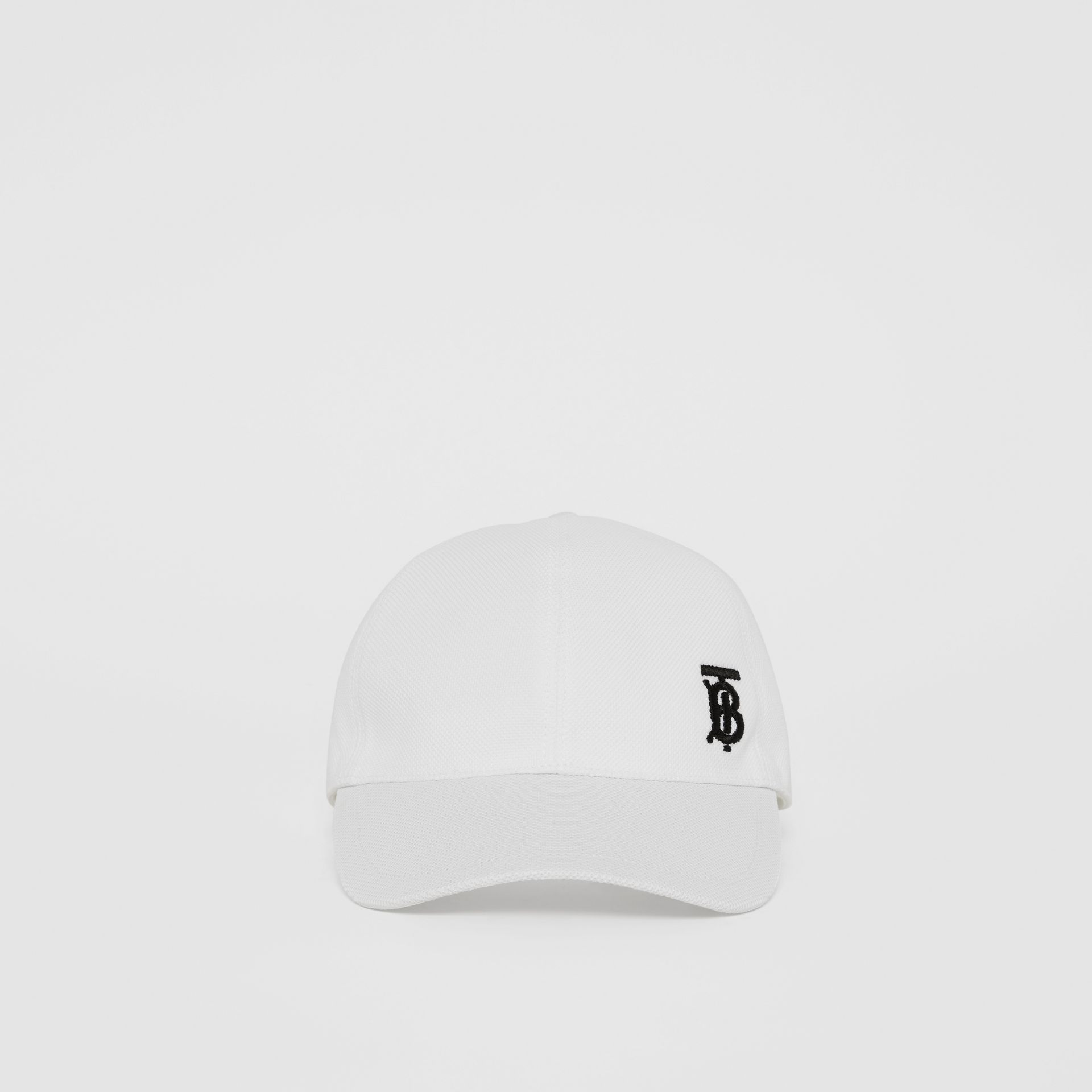 Monogram Motif Baseball Cap in White | Burberry - gallery image 3