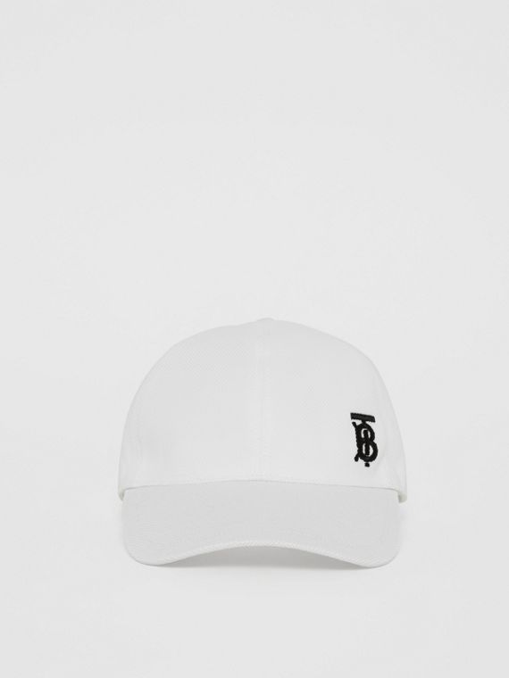 Monogram Motif Baseball Cap in White