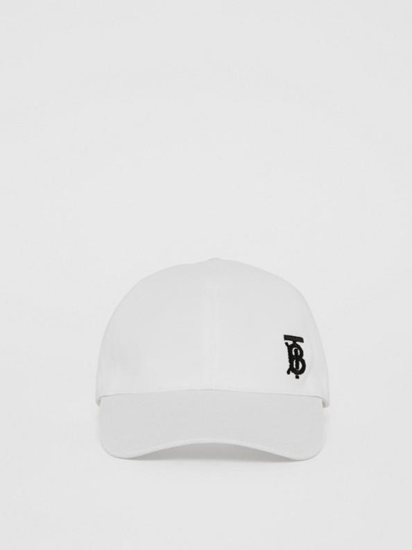 花押字圖案棒球帽 (白色)