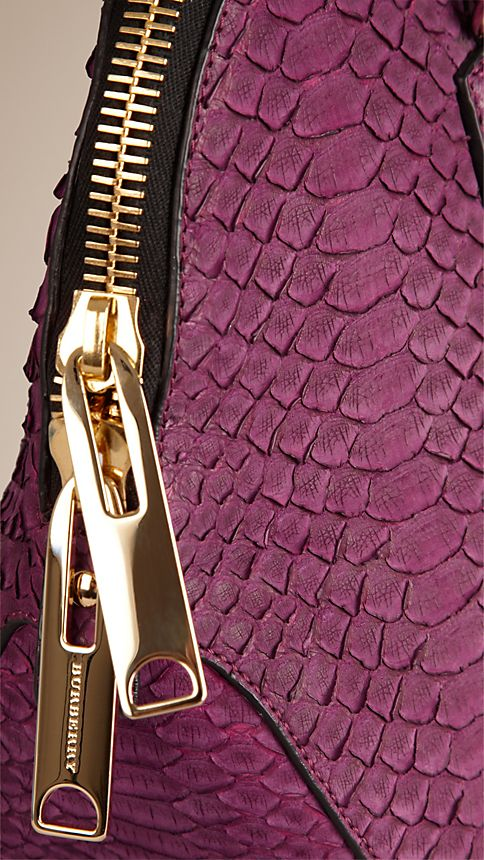 Damson magenta The Small Orchard in Nubuck Python - Image 6