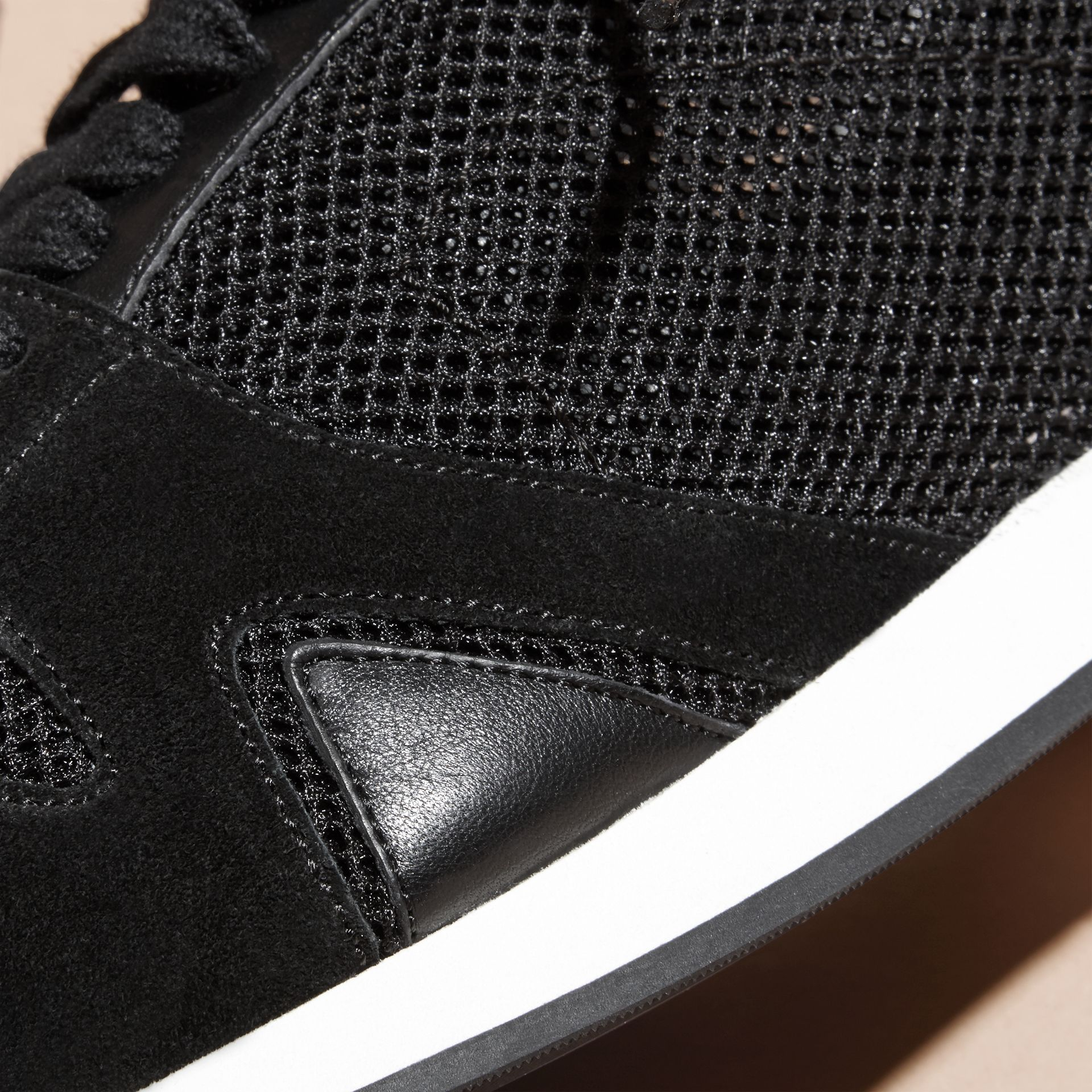 Black The Field Sneaker in Suede and Mesh Black - gallery image 2