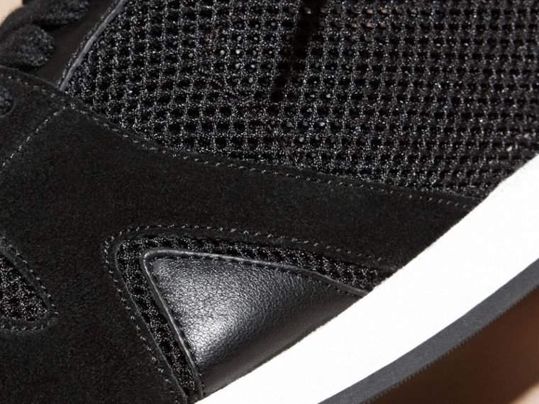 Black The Field Sneaker in Suede and Mesh Black - cell image 1