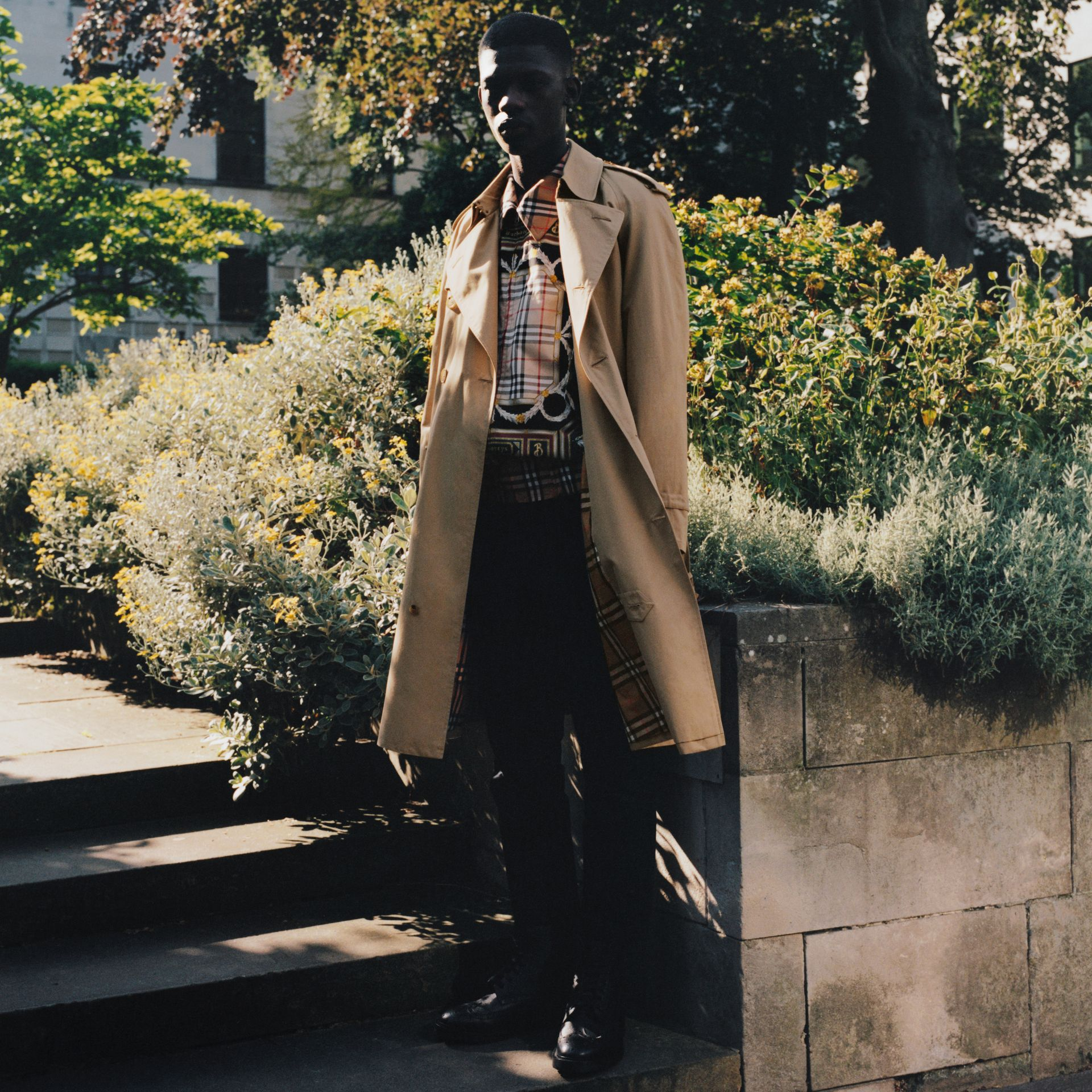 Archive Scarf Print Harrington Jacket in Antique Yellow - Men | Burberry Singapore - gallery image 1