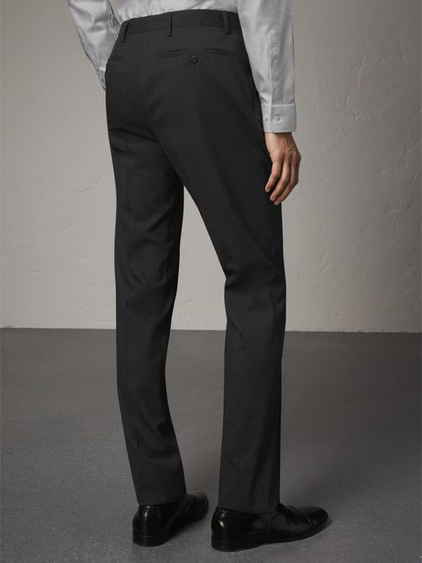 Modern Fit Wool Trousers in Charcoal - Men | Burberry - cell image 2