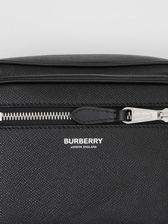 Grainy Leather Crossbody Bag in Black - Men | Burberry - cell image 1