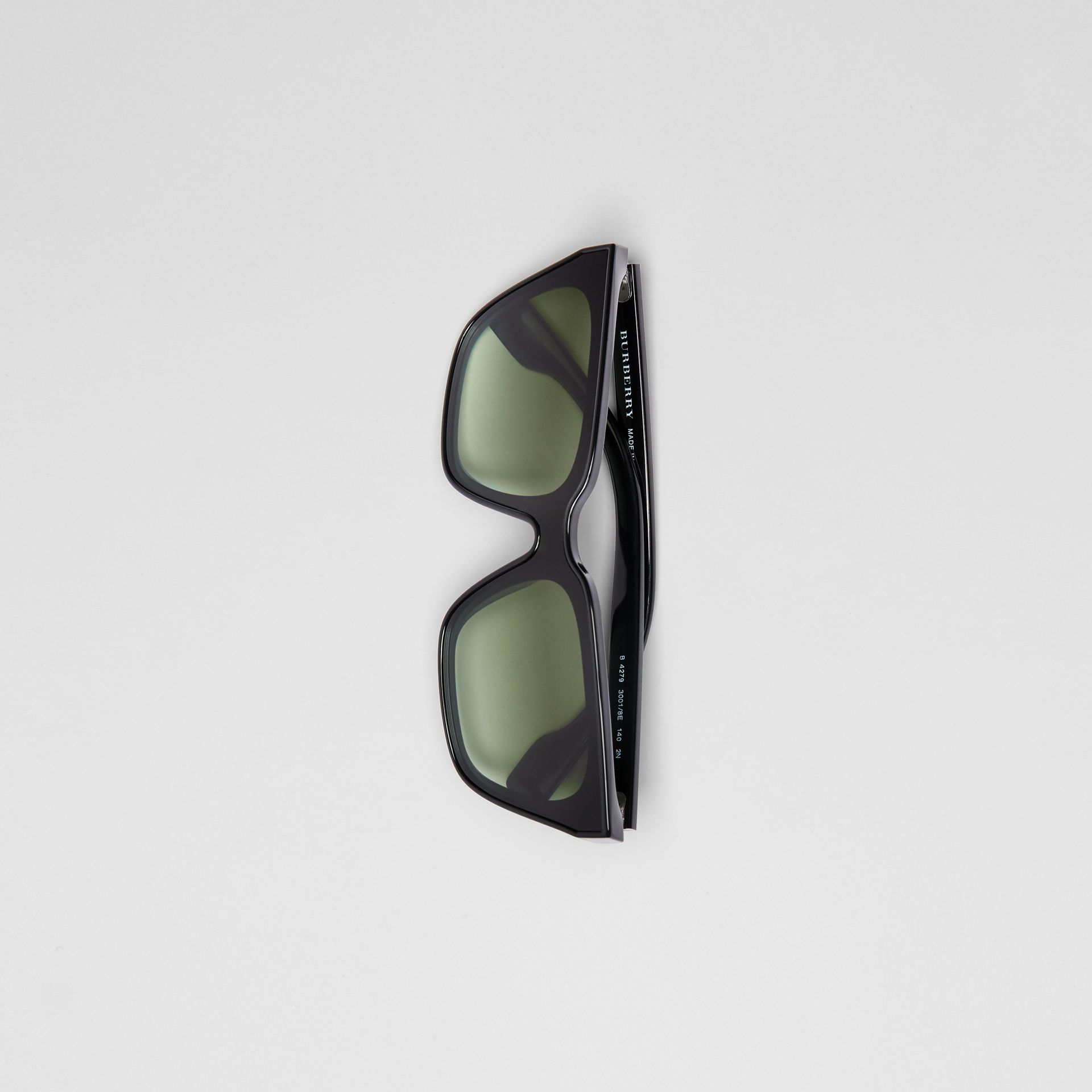 Square Frame Shield Sunglasses in Black - Women | Burberry - gallery image 3
