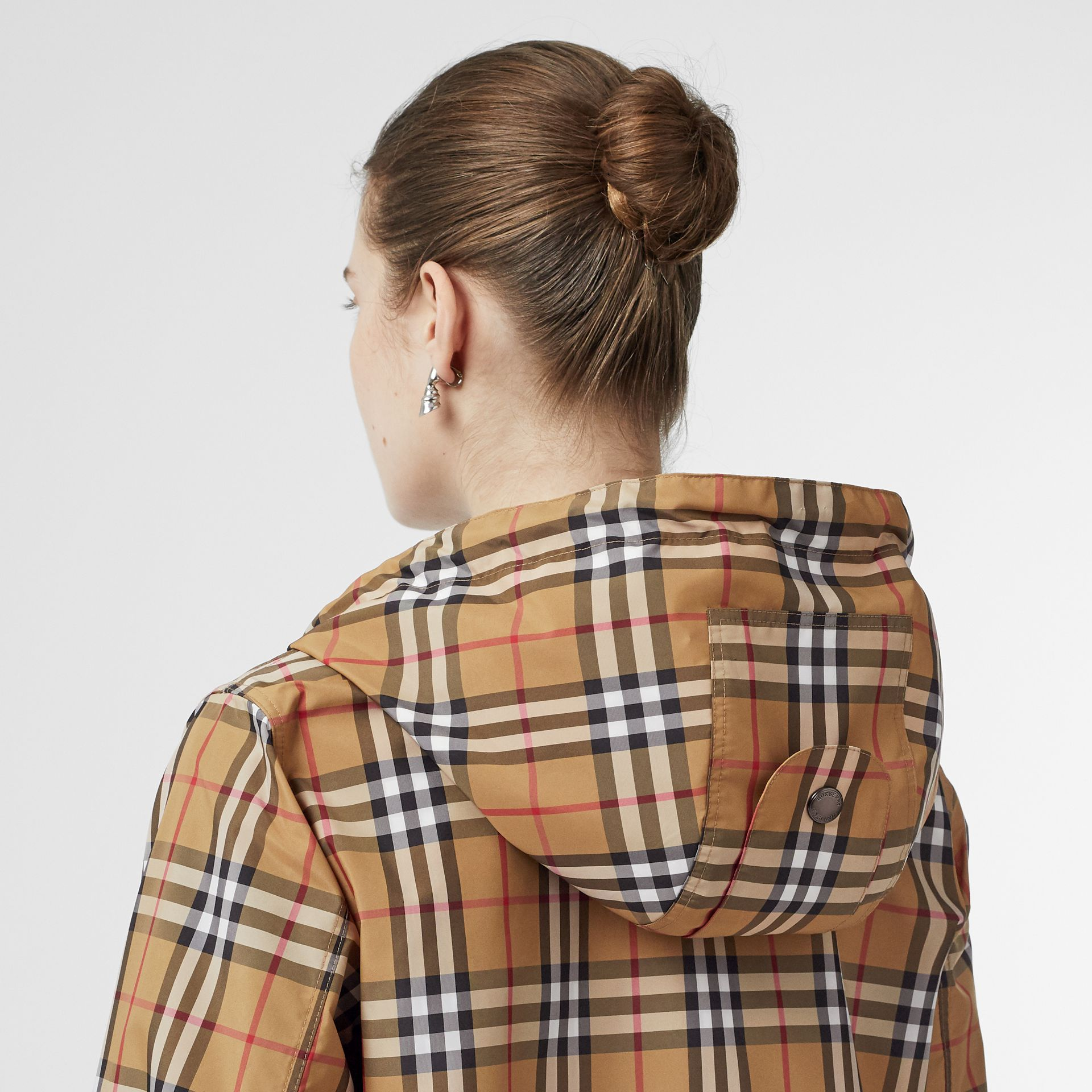 Vintage Check Lightweight Hooded Jacket in Antique Yellow - Women | Burberry - gallery image 5