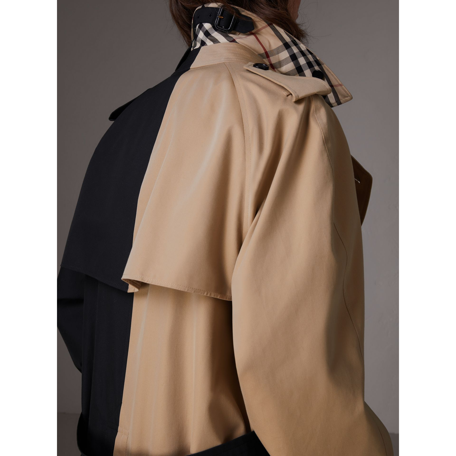 Gosha x Burberry Two-tone Trench Coat in Honey | Burberry United Kingdom - gallery image 5