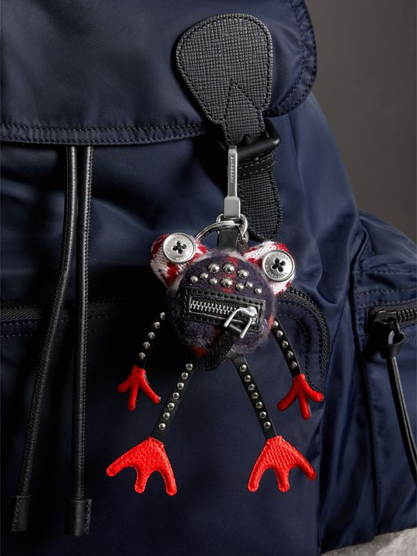 Doris The Frog Cashmere Charm in Black | Burberry United Kingdom - cell image 2