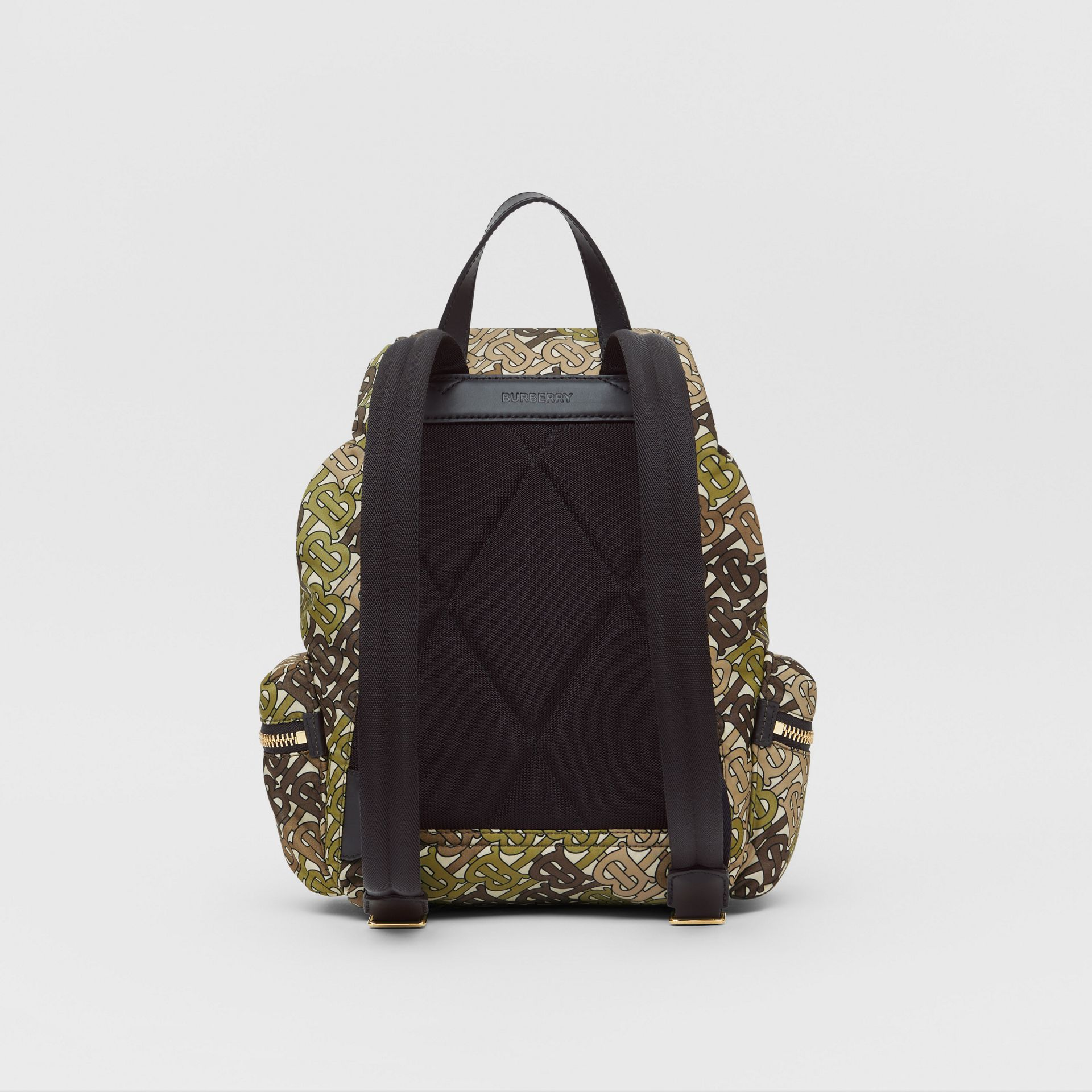 The Medium Rucksack in Monogram Print Nylon in Khaki Green - Women | Burberry United Kingdom - gallery image 7
