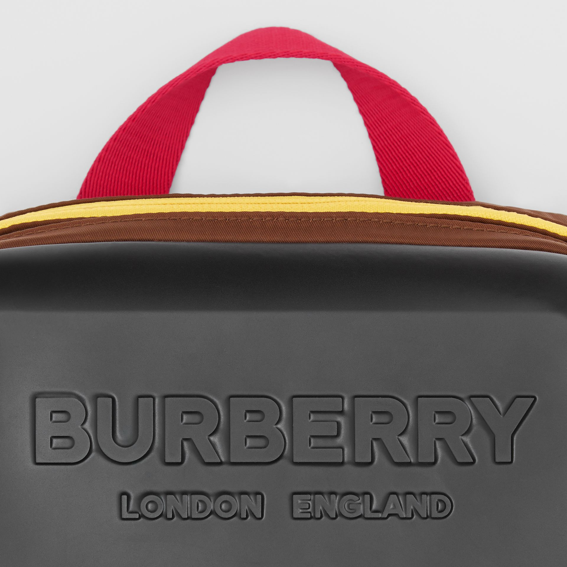Logo Embossed Panel Nylon Bum Bag in Black - Men | Burberry - gallery image 1