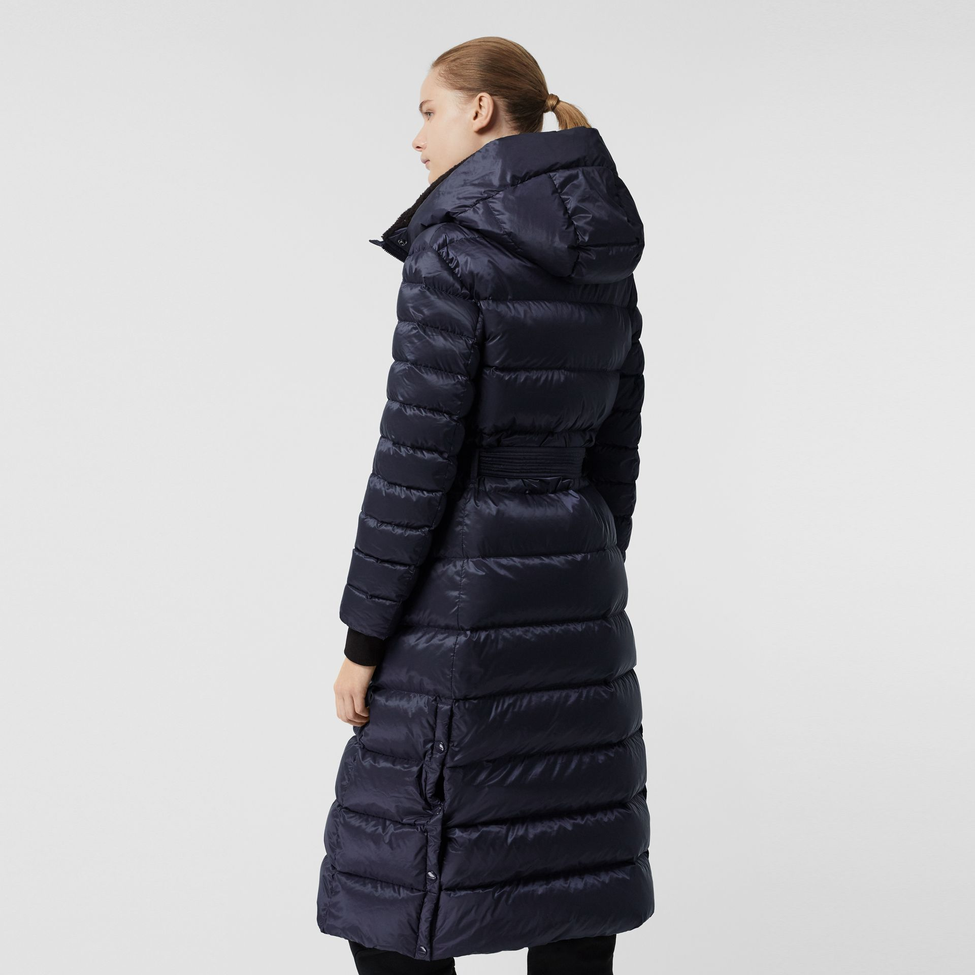 Down-filled Hooded Puffer Coat in Navy - Women | Burberry United States - gallery image 2