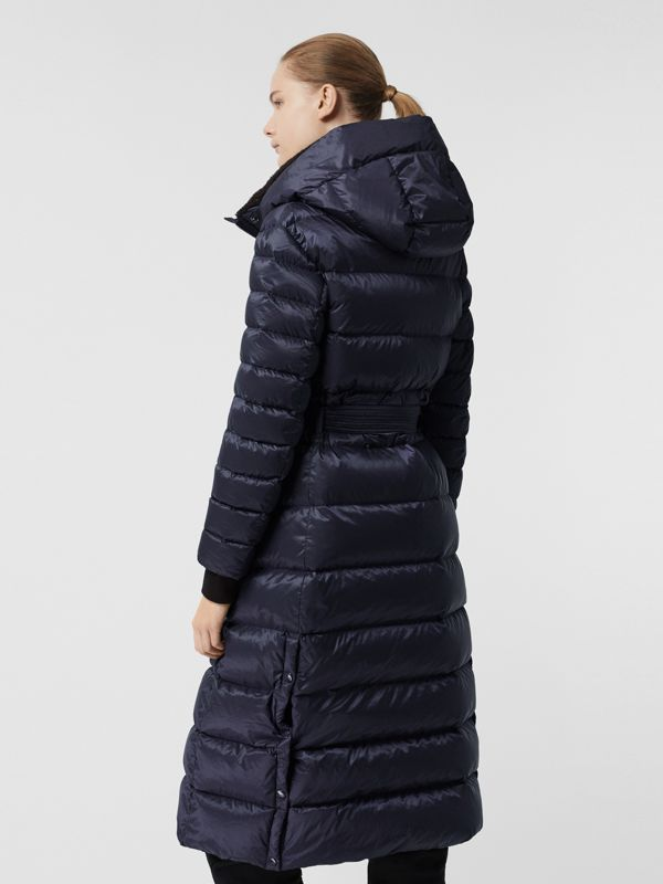 Down-filled Hooded Puffer Coat in Navy - Women | Burberry United States - cell image 2