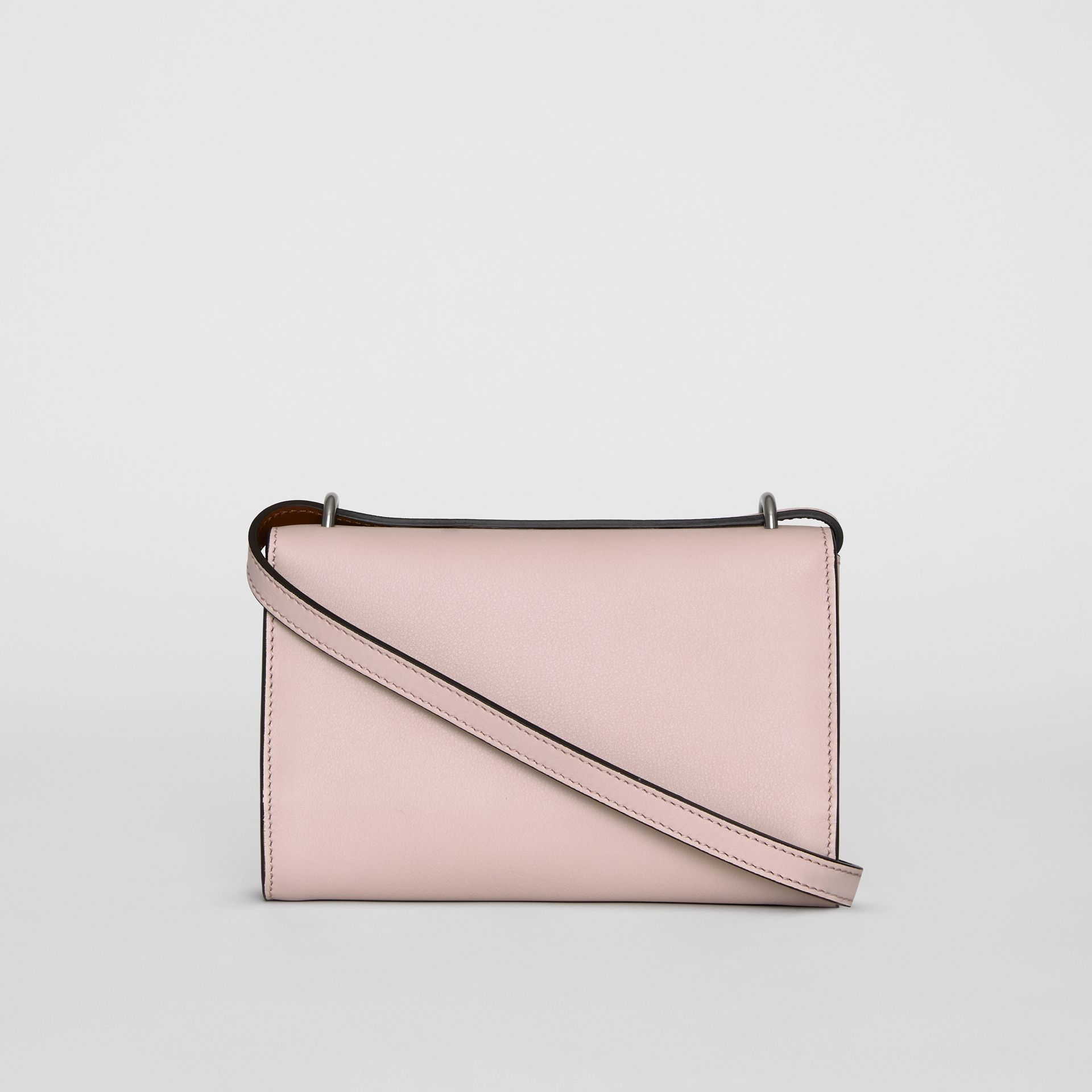 Embossed Crest Leather Wallet with Detachable Strap in Chalk Pink - Women | Burberry - gallery image 7