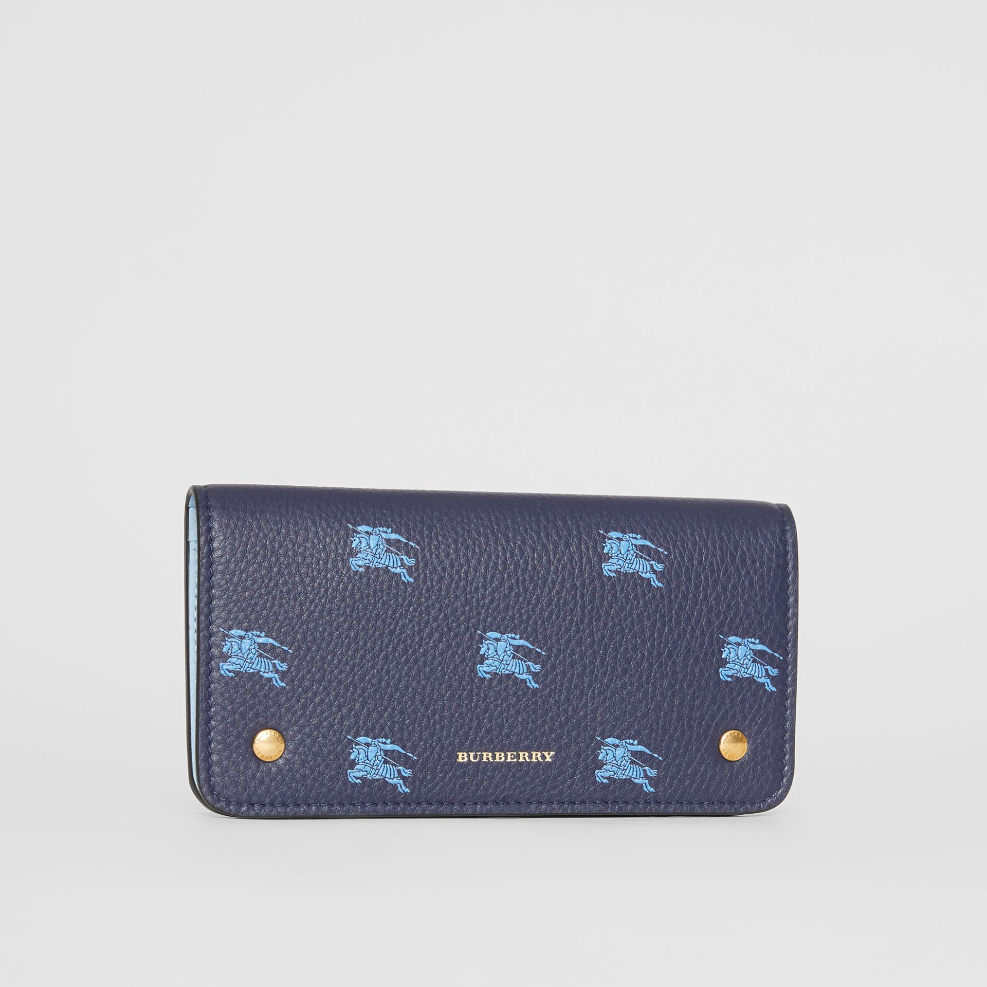 EKD Leather Phone Wallet in Regency Blue - Women | Burberry - gallery image 4