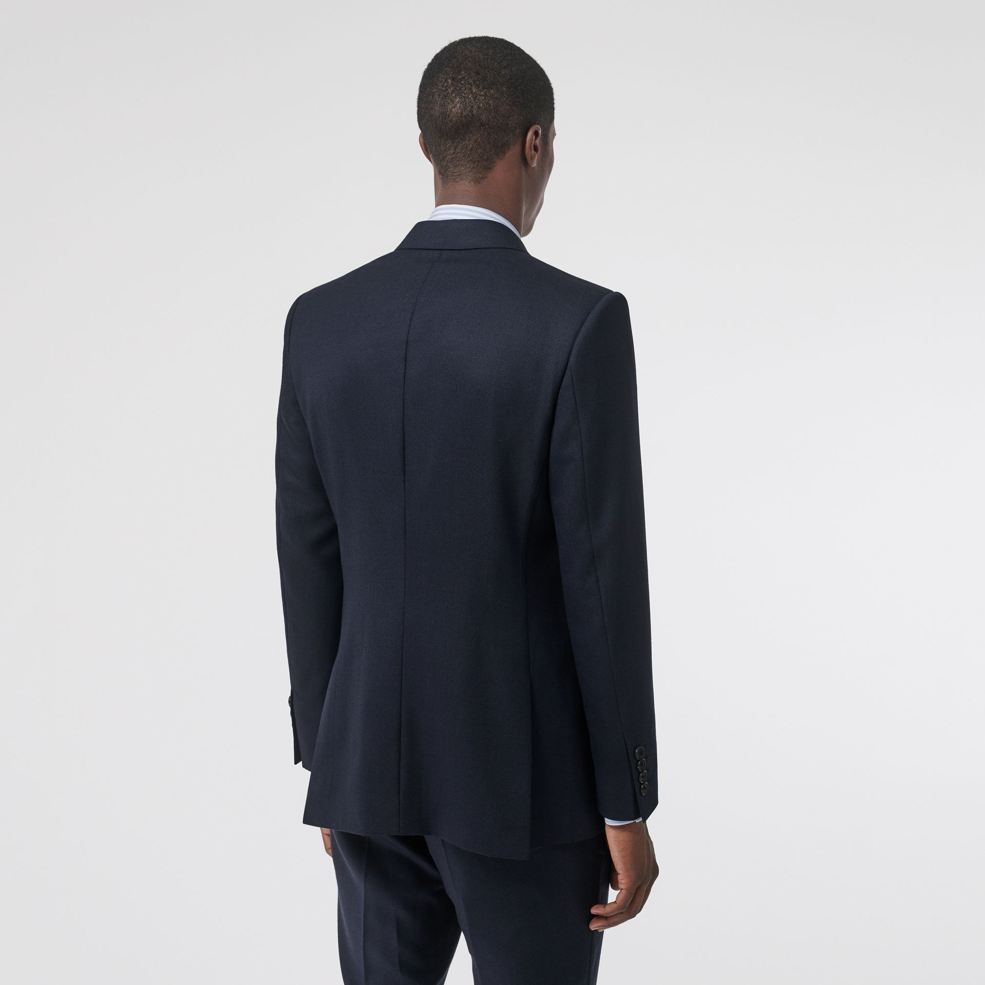 English Fit Birdseye Wool Cashmere Suit in Navy Blue | Burberry - gallery image 2