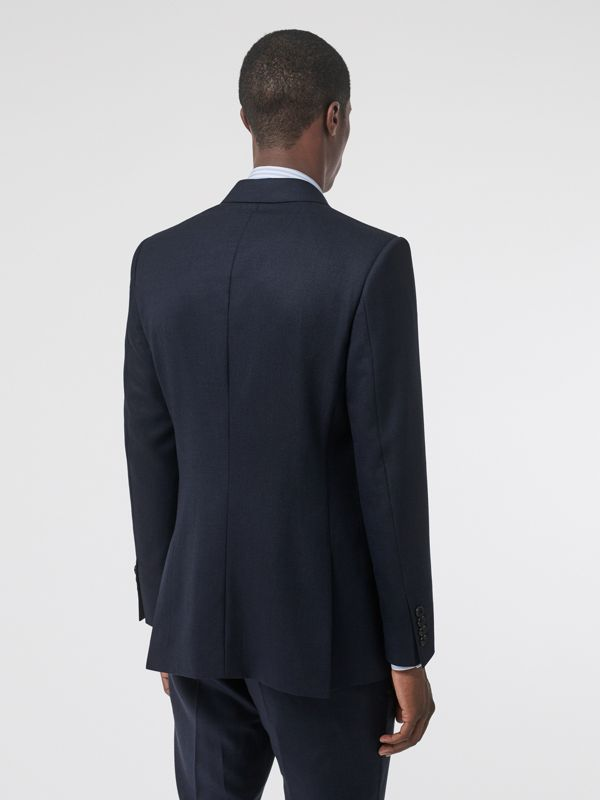 English Fit Birdseye Wool Cashmere Suit in Navy Blue | Burberry - cell image 2