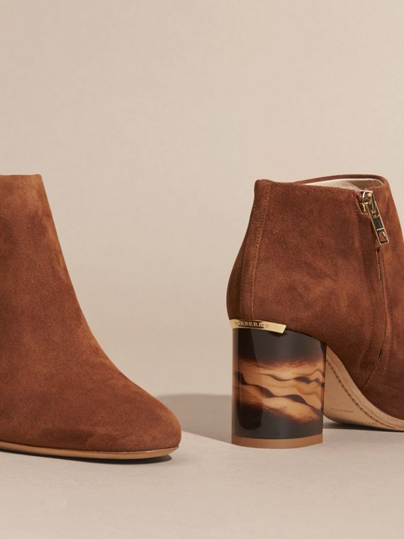 Clove brown Suede Ankle Boots - cell image 3