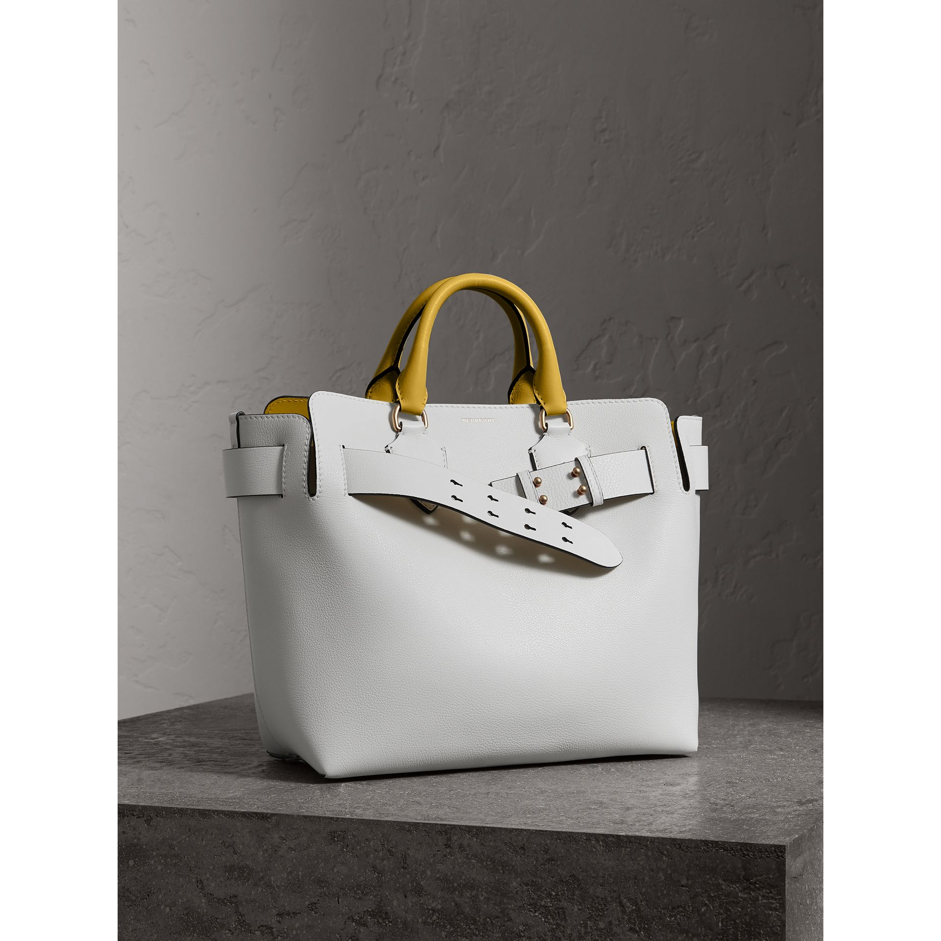 The Medium Leather Belt Bag in Chalk White/yellow - Women | Burberry United States - gallery image 5