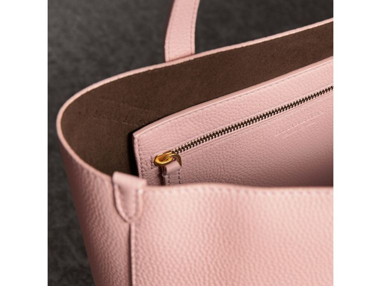 Large Embossed Leather Tote in Pale Ash Rose - Women | Burberry Canada - cell image 4