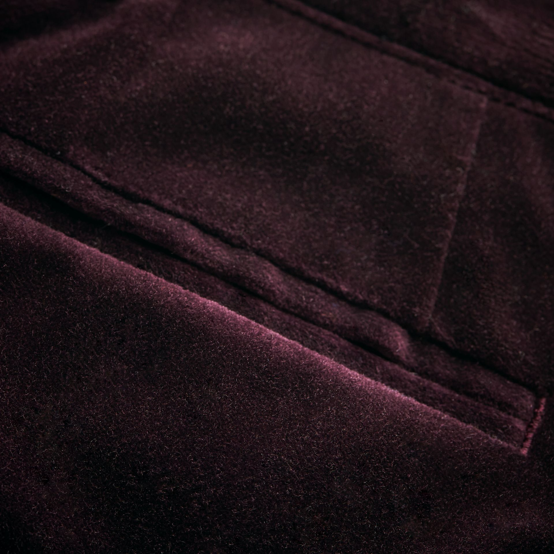 Velvet Tuxedo Trousers in Black Currant | Burberry - gallery image 1
