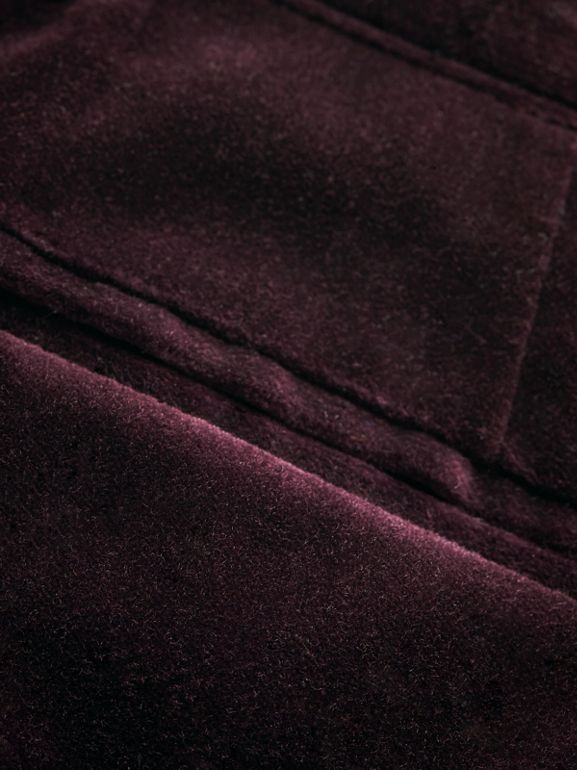 Velvet Tuxedo Trousers in Black Currant | Burberry - cell image 1