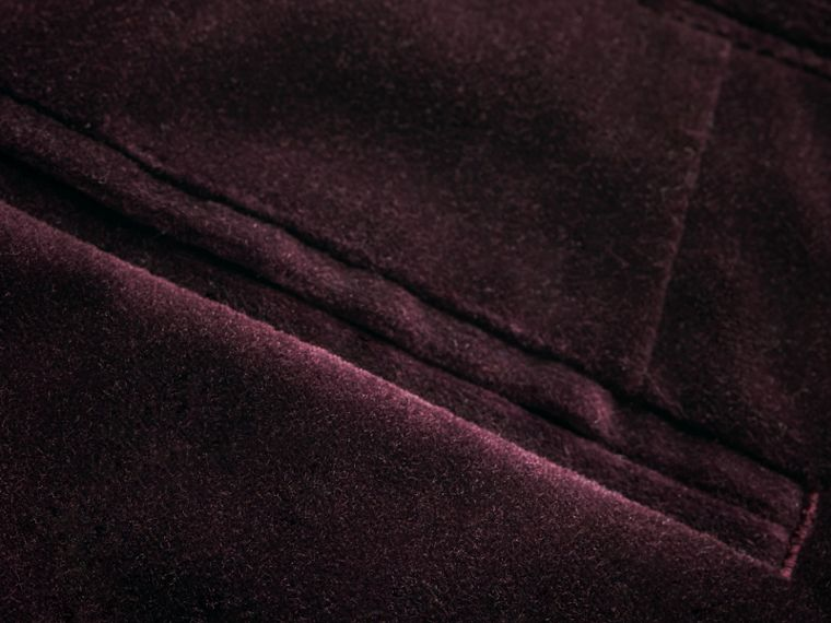 Tailored Velvet Tuxedo Trousers in Black Currant - Boy | Burberry Australia - cell image 1
