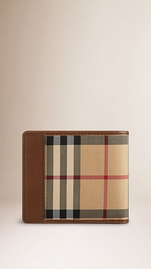 Tan Horseferry Check Folding Wallet - Image 2
