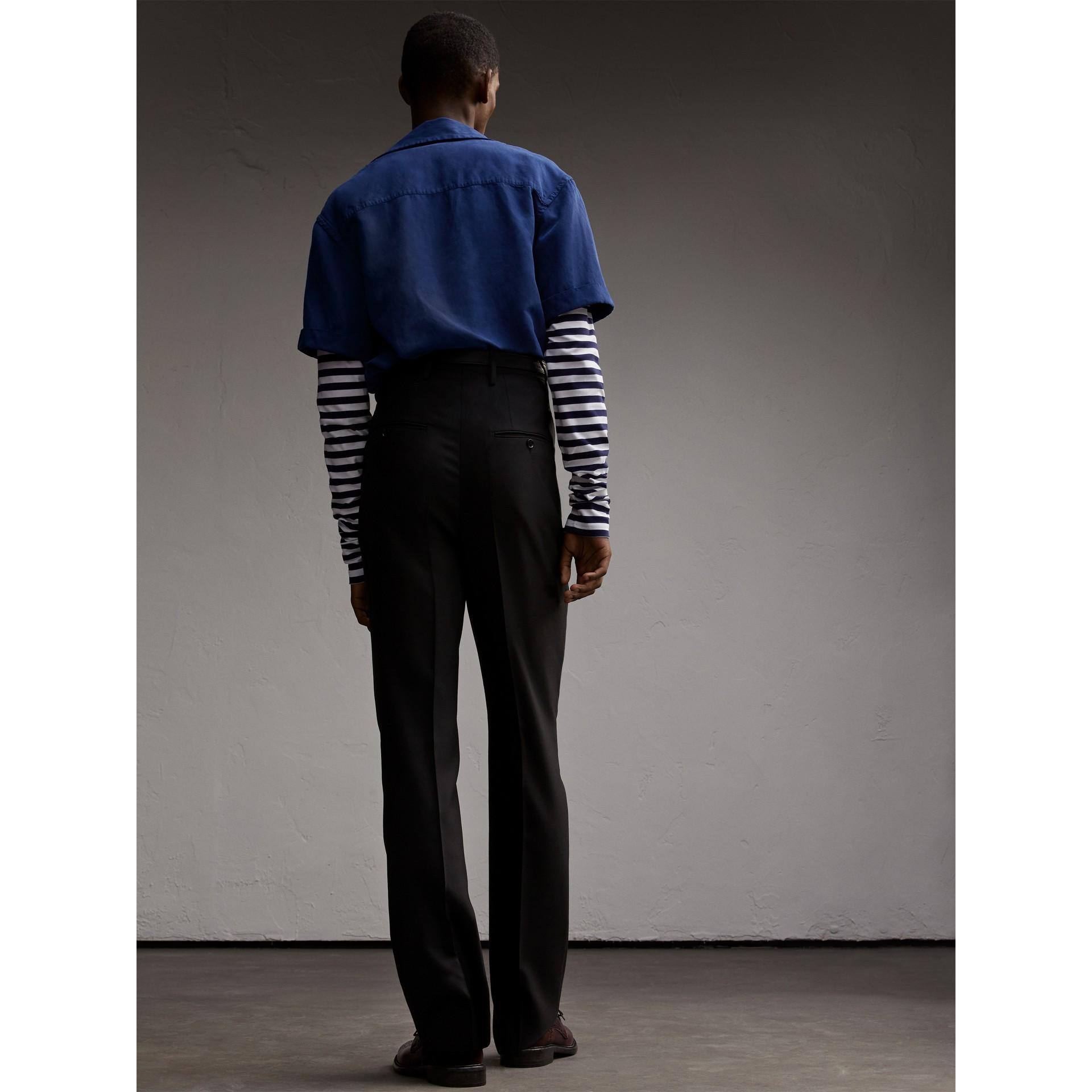 Short-sleeve Lyocell Linen Cotton Smock Shirt - gallery image 3