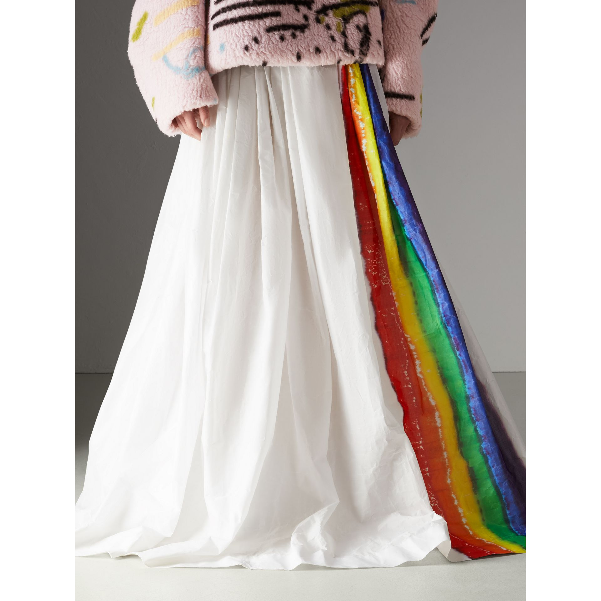 Rainbow Stripe Maxi Skirt - Women | Burberry Singapore - gallery image 4
