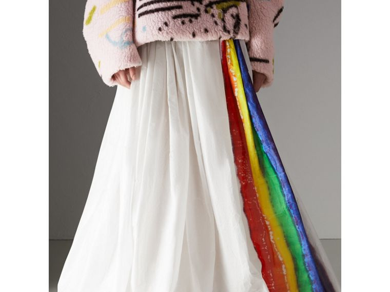 Rainbow Stripe Maxi Skirt - Women | Burberry - cell image 4