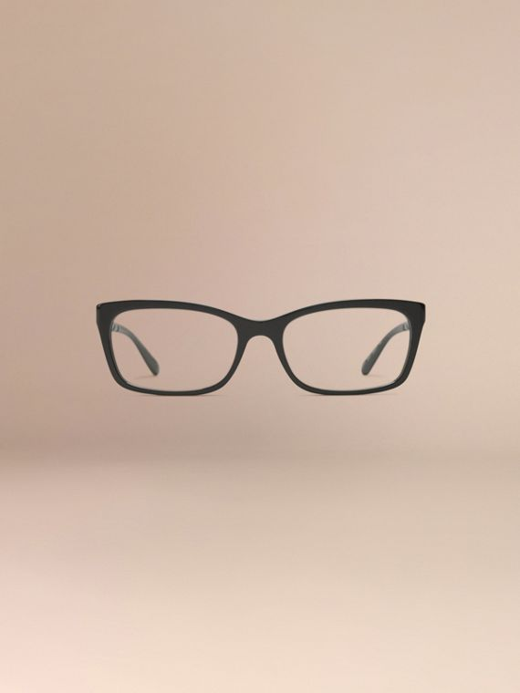 Check Detail Rectangular Optical Frames Black - cell image 2