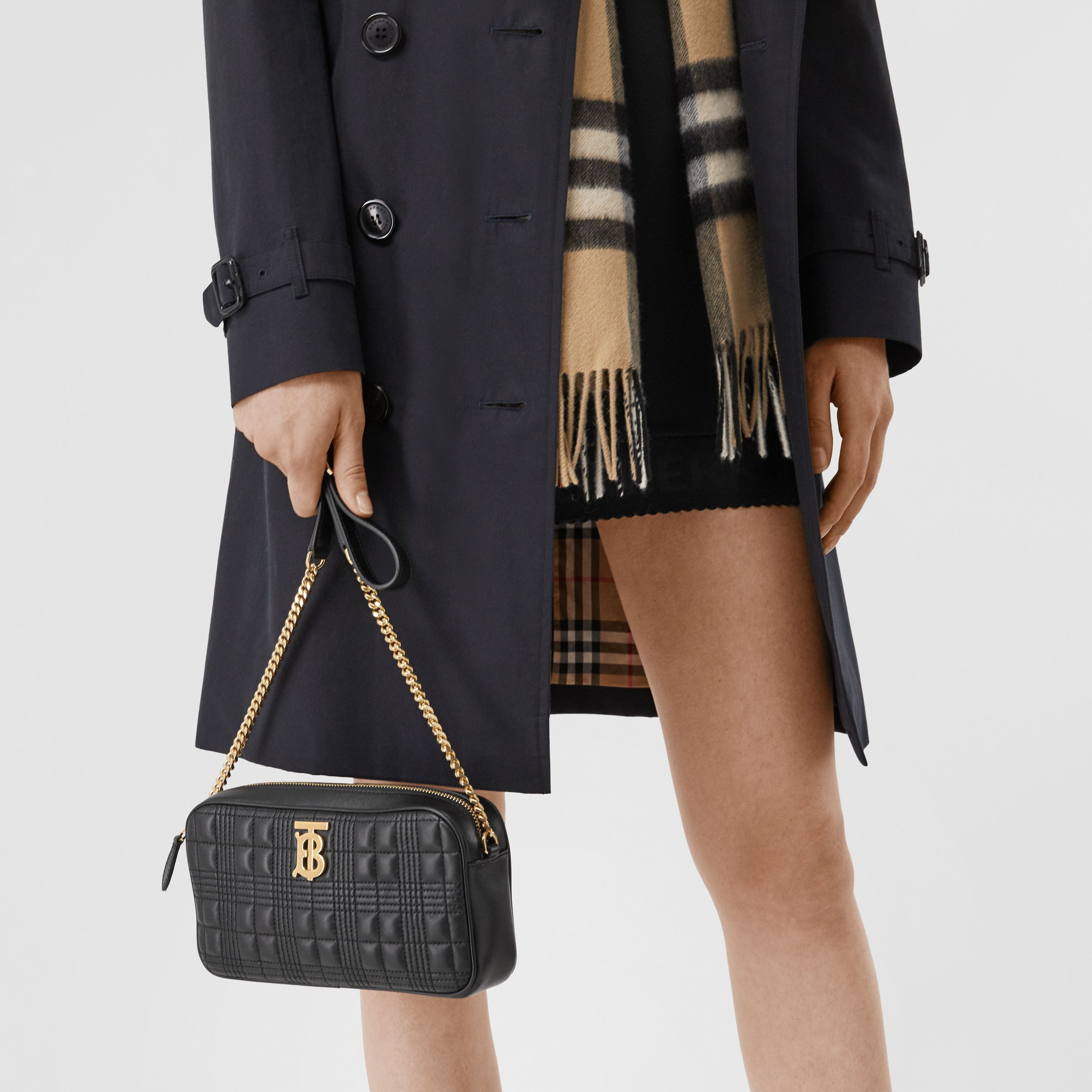Quilted Lambskin Camera Bag in Black - Women | Burberry - 3