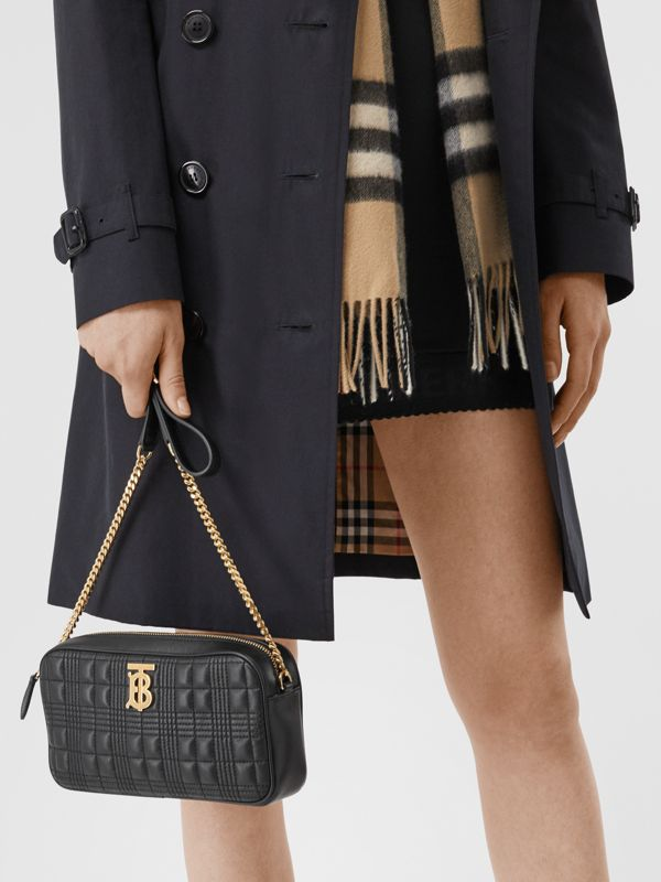Quilted Lambskin Camera Bag in Black - Women | Burberry - cell image 2