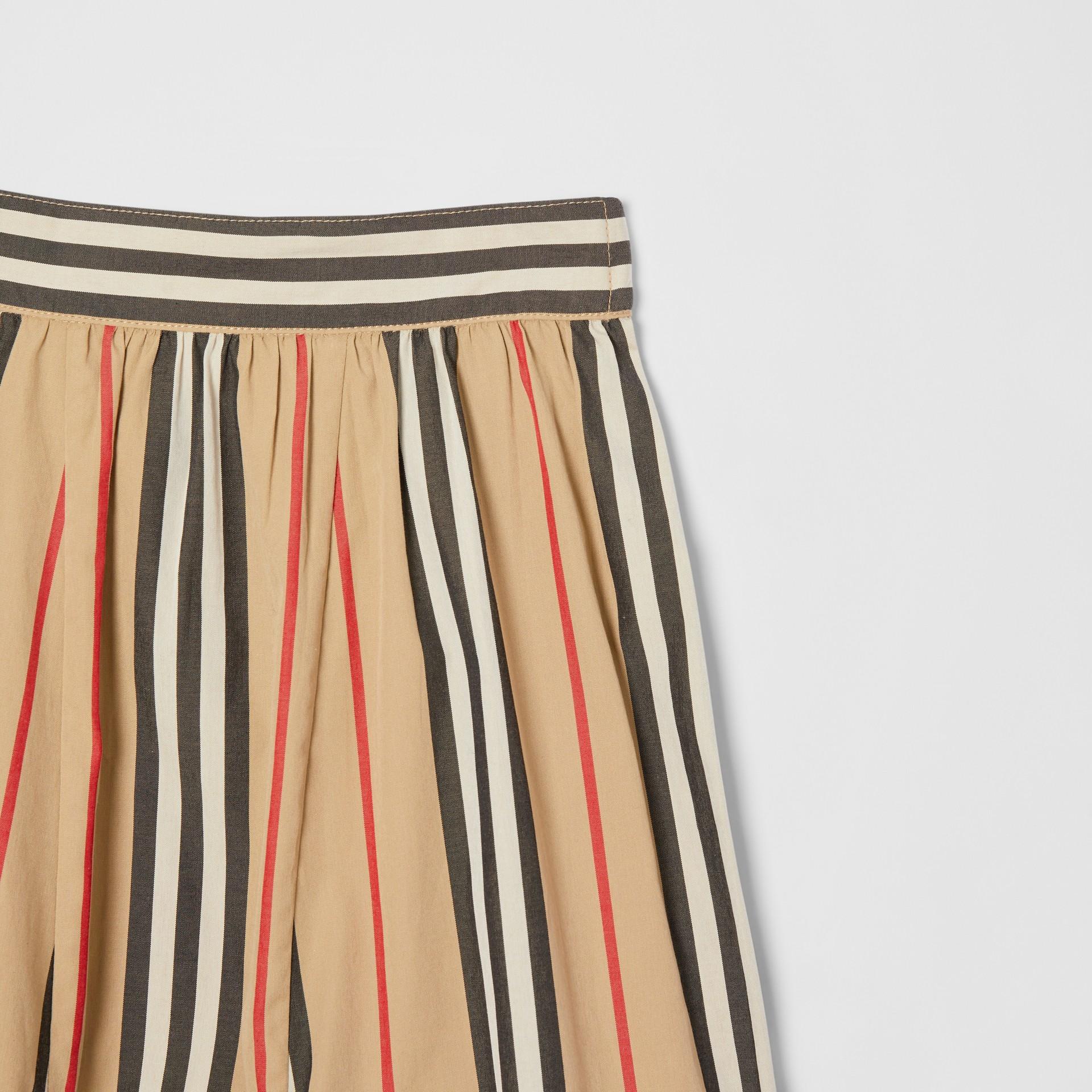 Pantalon en popeline de coton à rayures iconiques (Beige D'archive) - Enfant | Burberry Canada - photo de la galerie 5