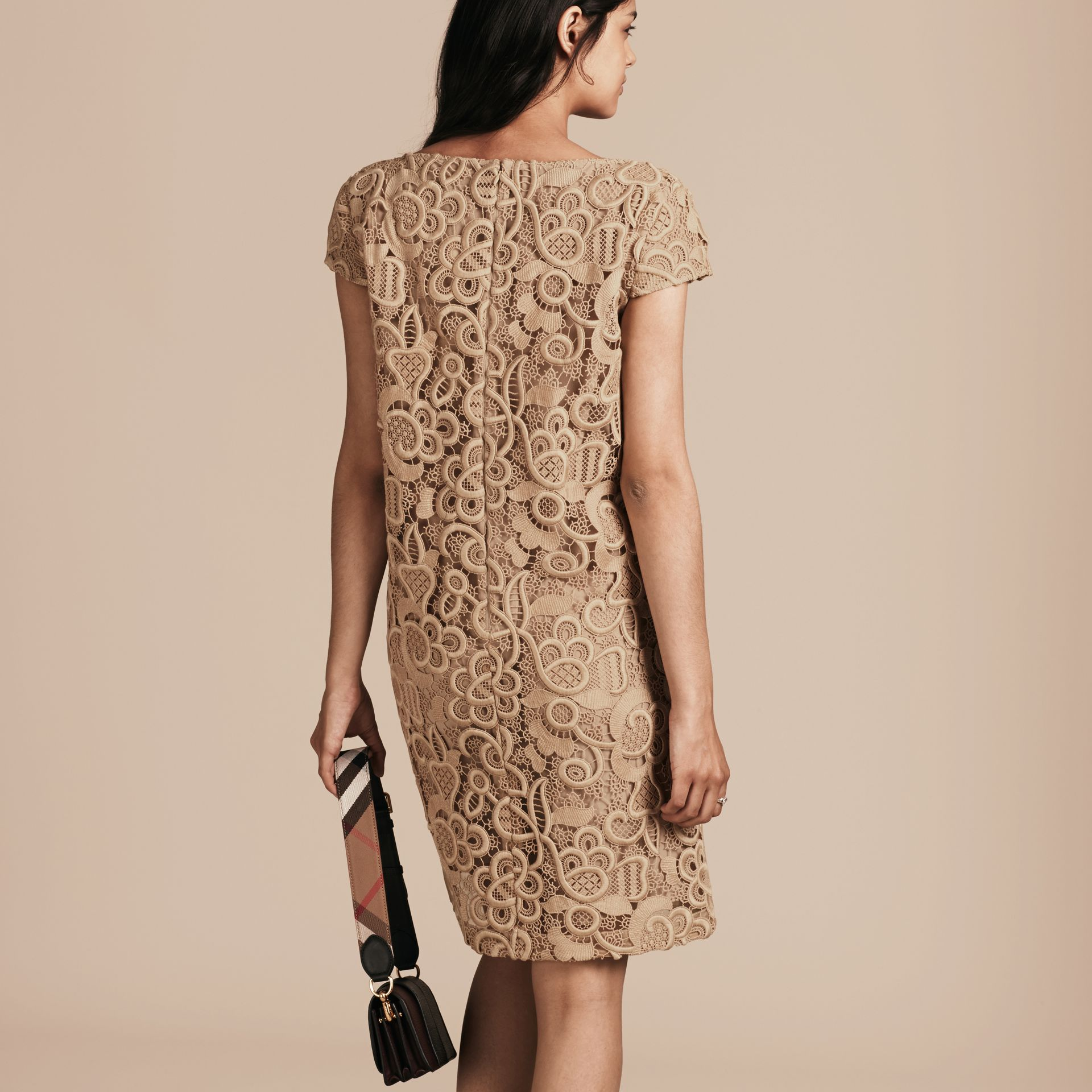 Nude Online Exclusive Swiss Lace Shift Dress - gallery image 3