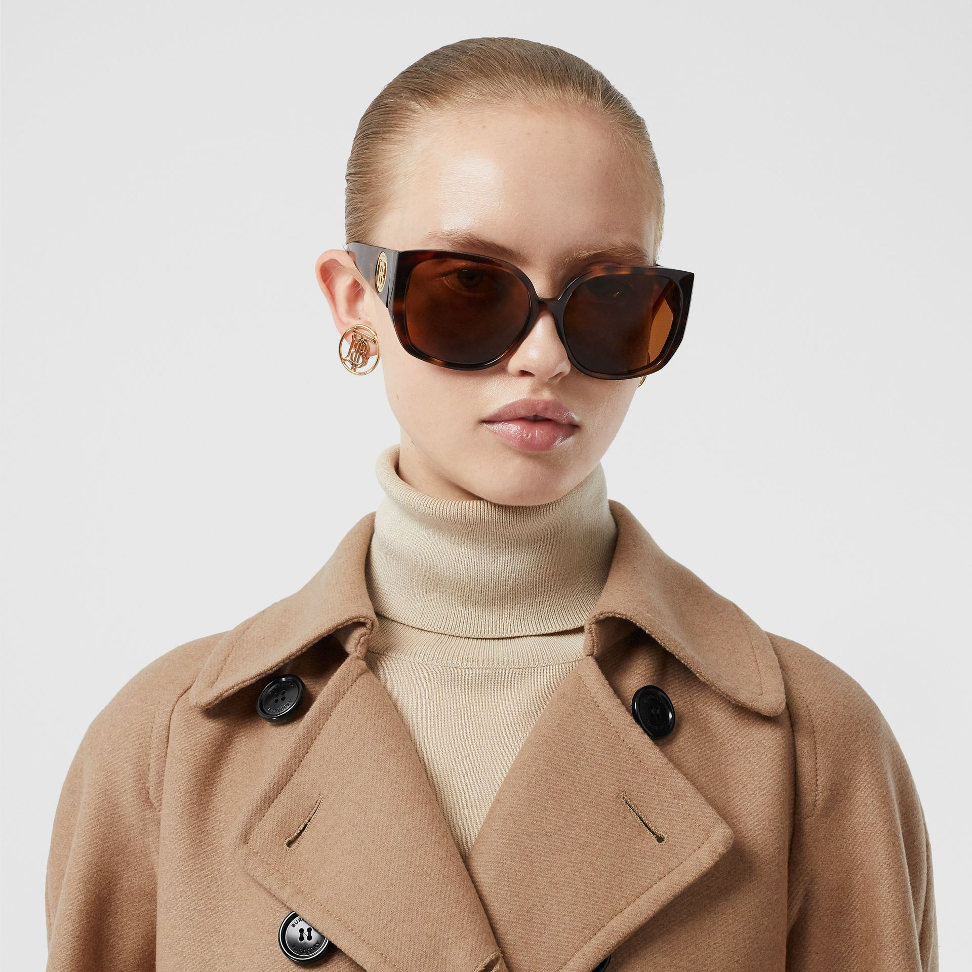 Double-faced Cashmere Trench Coat in Camel - Women | Burberry - gallery image 1