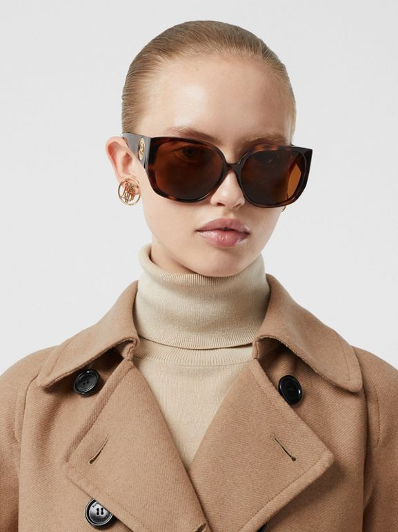 Double-faced Cashmere Trench Coat in Camel - Women | Burberry - cell image 1