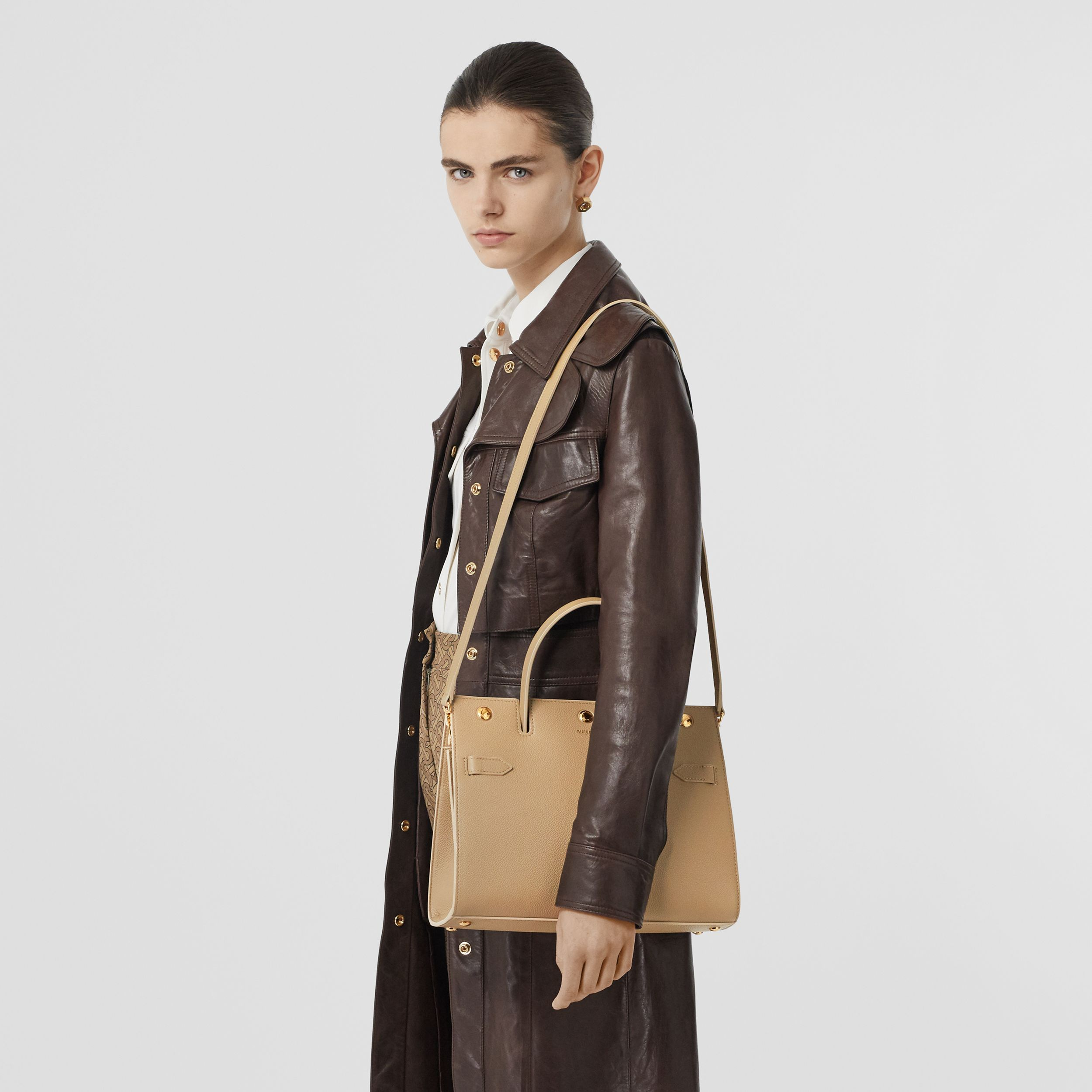 Small Leather Title Bag in Honey - Women | Burberry - 3