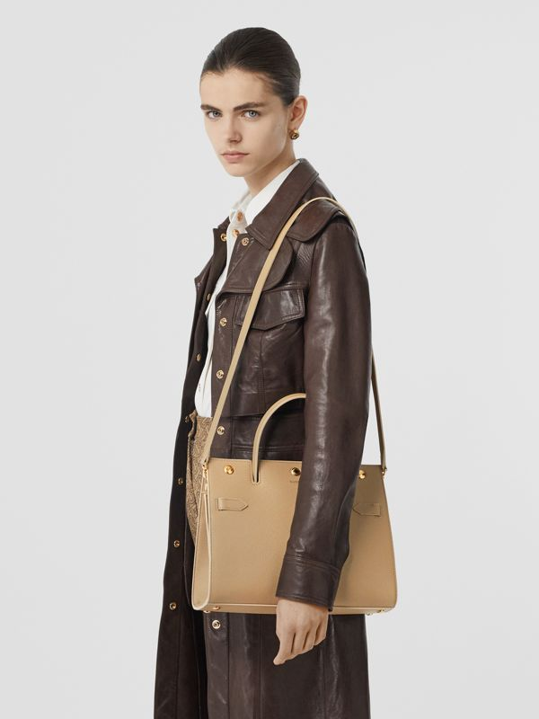 Small Leather Title Bag in Honey - Women | Burberry Australia - cell image 2