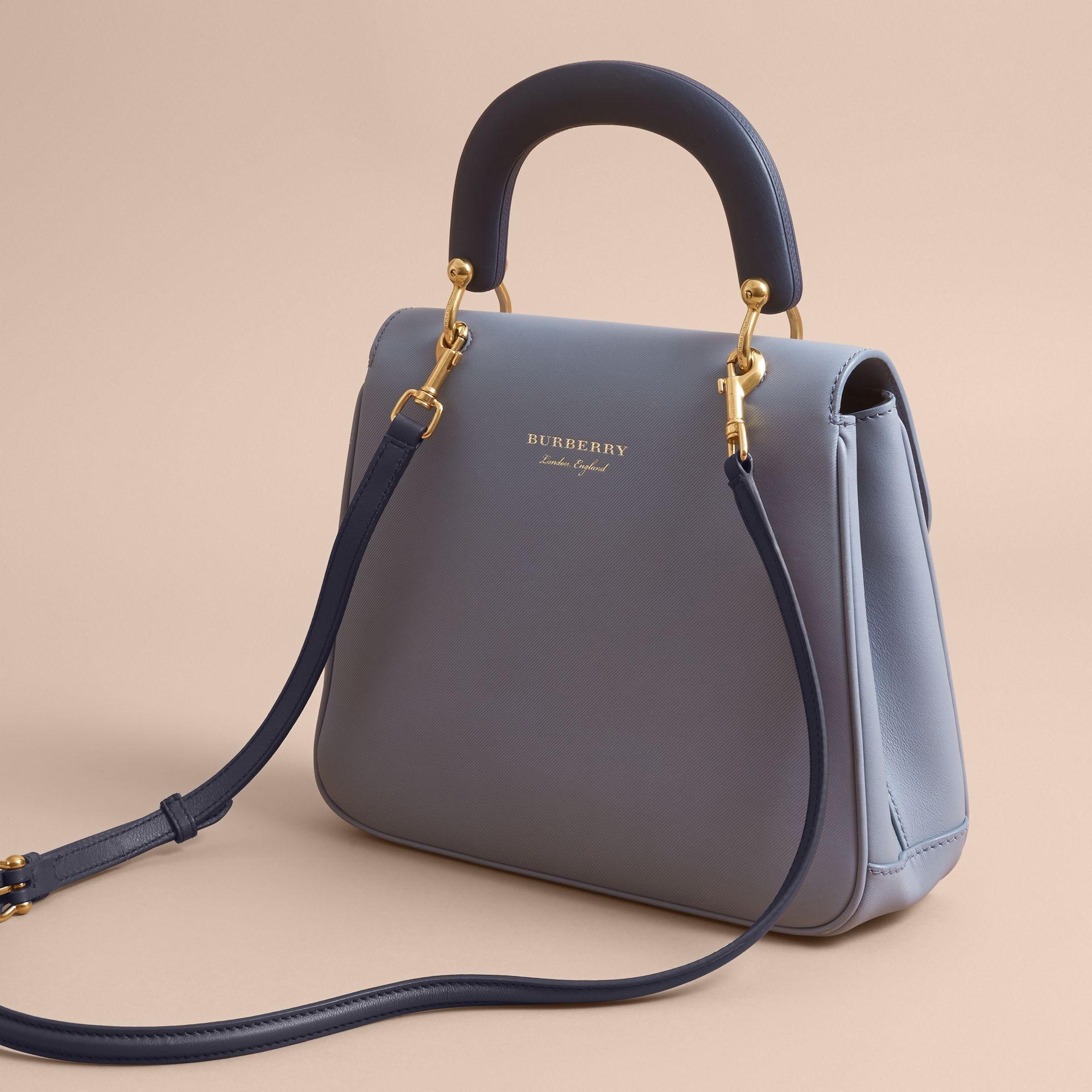 The Medium DK88 Top Handle Bag in Slate Blue - Women | Burberry Singapore - gallery image 4