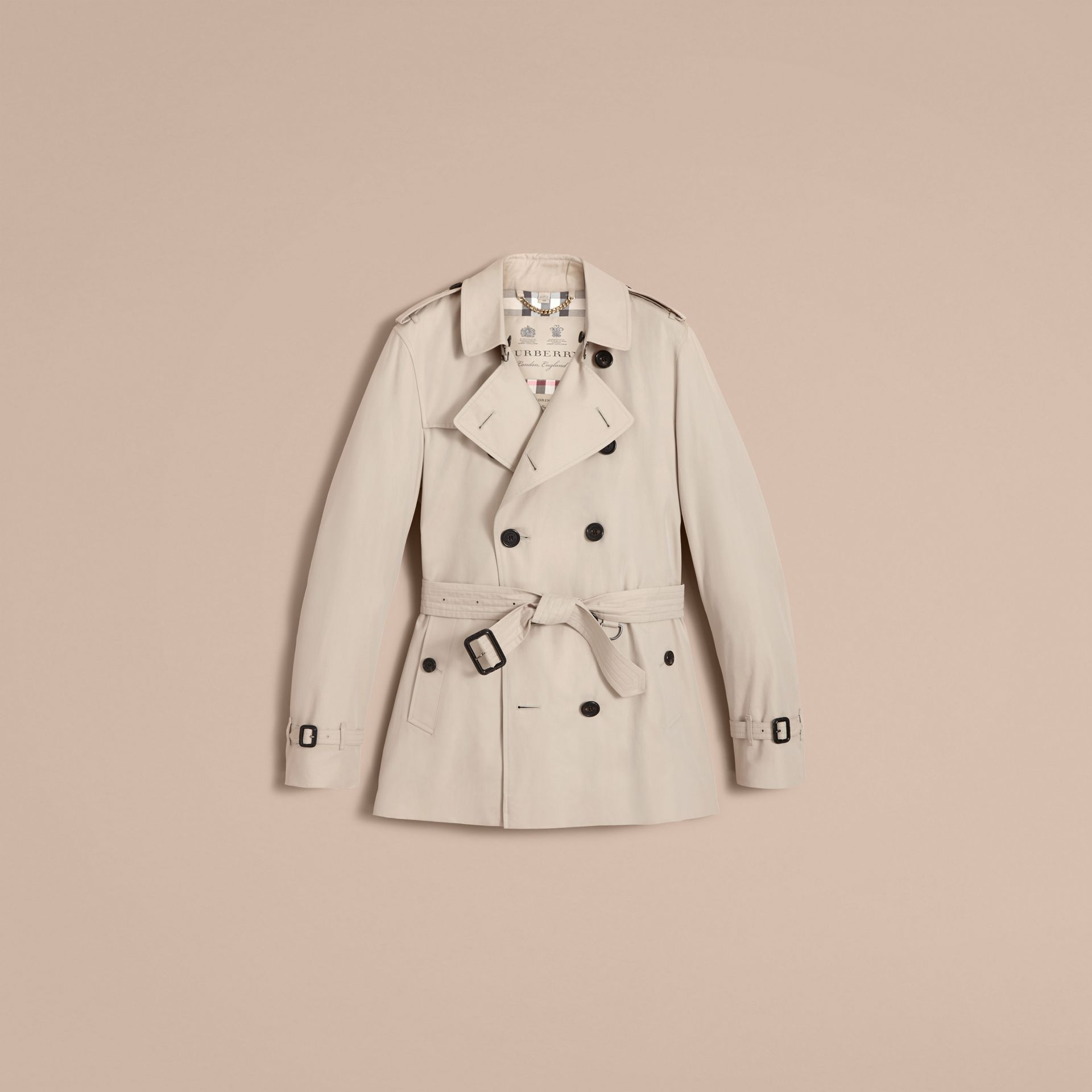 The Kensington – Short Heritage Trench Coat in Stone - gallery image 4