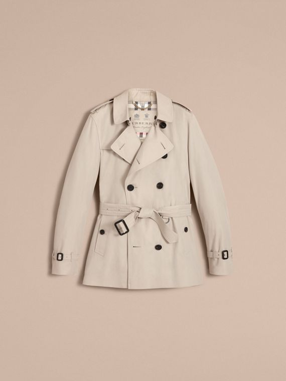 The Kensington – Short Heritage Trench Coat in Stone - cell image 3
