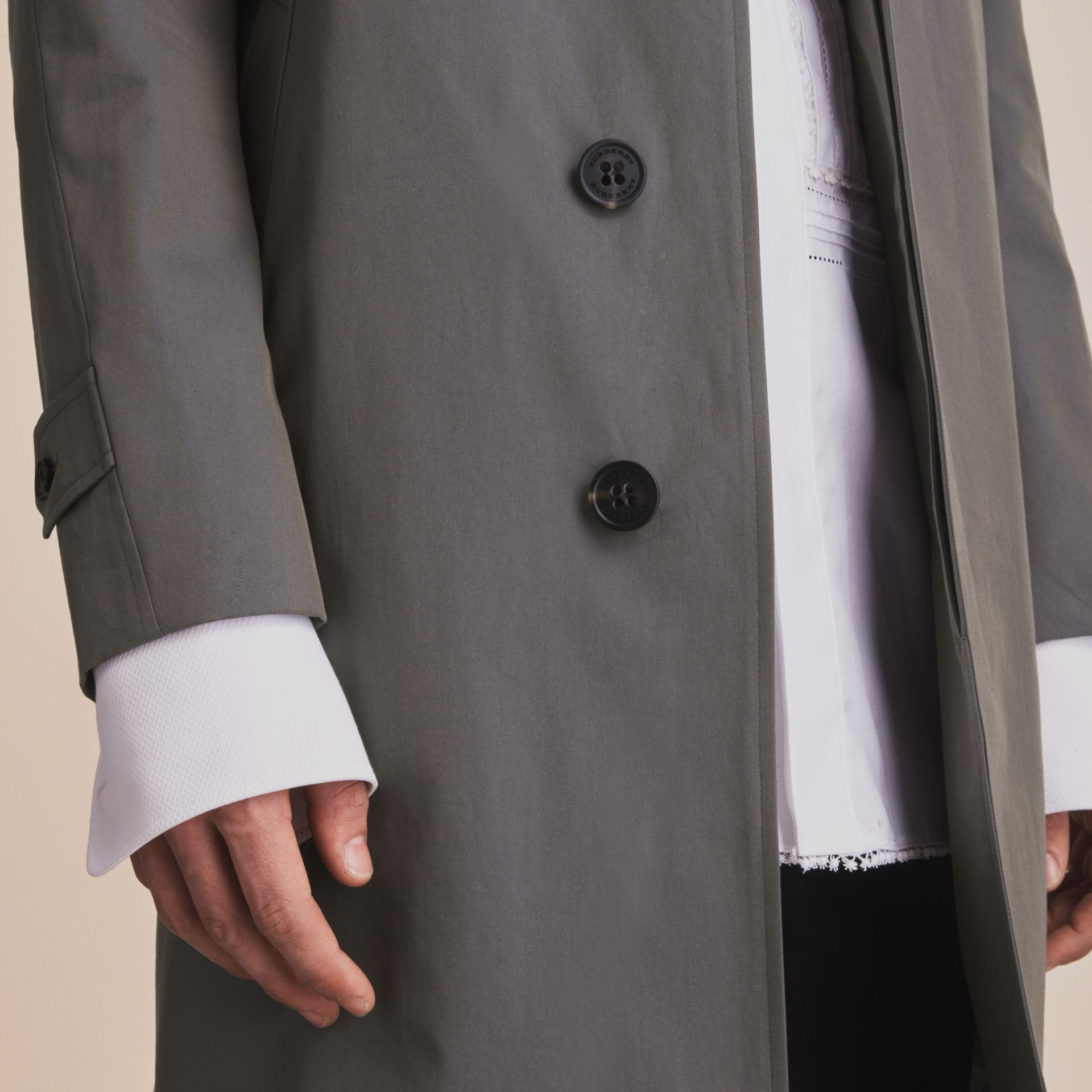 Tropical Gabardine Car Coat Storm Blue - gallery image 7