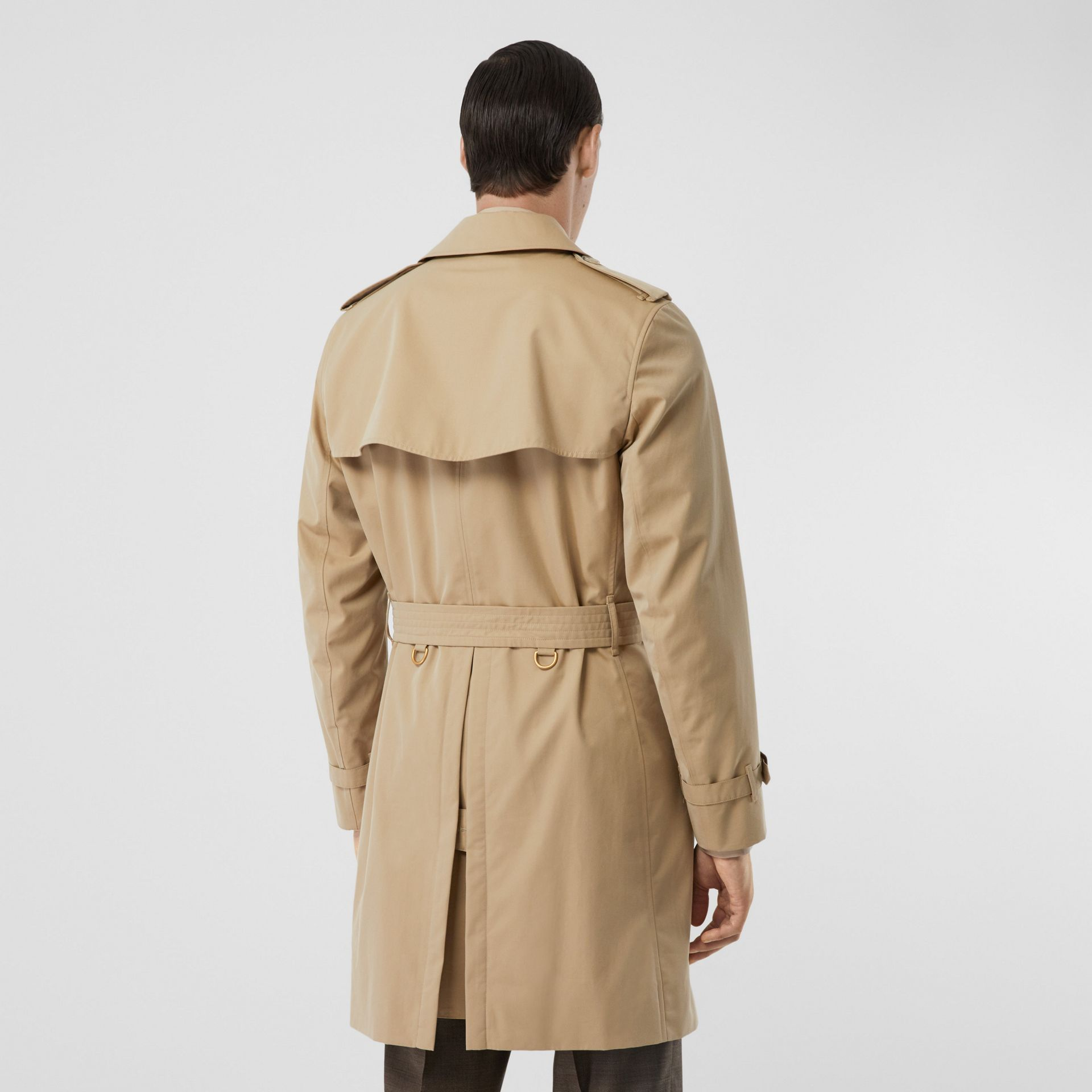The Mid-length Kensington Heritage Trench Coat in Honey - Men | Burberry Singapore - gallery image 6